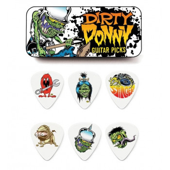 Набор медиаторов DUNLOP BL111T.60 DIRTY DONNY PICKS TIN 0.60